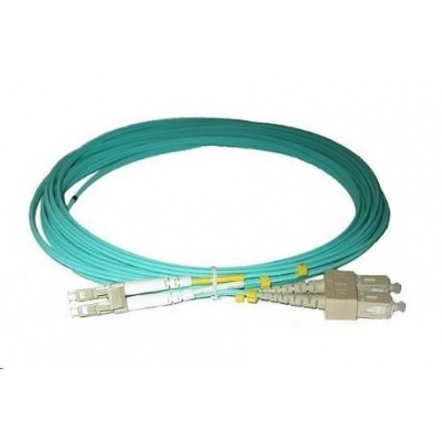 Duplexní patch kabel MM 50/125, OM3, LC-SC, LS0H, 3m