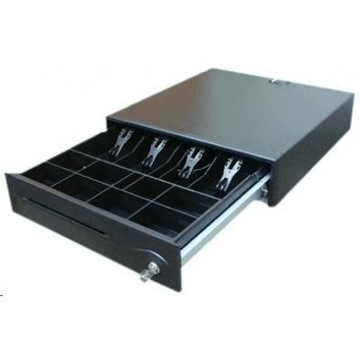 FEC pokladní zásuvka POS-420 vč. kabelu 24V, RJ12, pro tiskárny, černá (pro EPSON, STAR, ...)
