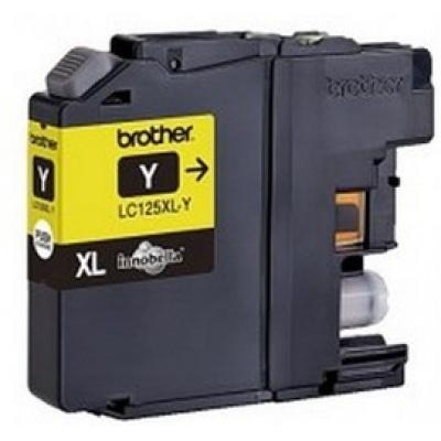 BROTHER INK LC-125XLY, žlutý inkoust - DCP-J4110DW,MFC-J4410DW,MFC-J4510DW,MFC-J4610DW,MFC-J4710DW,MFC-J6520DW, 6920