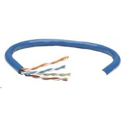 Intellinet UTP kabel, Cat5e, drát 305m, 24AWG, modrý
