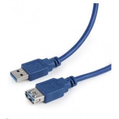 GEMBIRD Kabel USB 3.0 A-A prodlužovací 3m modrý