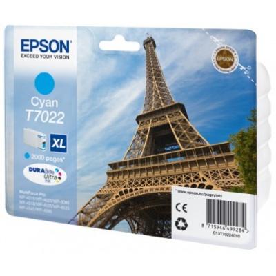 EPSON Ink bar WorkForce-4000/4500 - Cyan XL - 2000str. (21,3 ml)