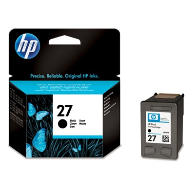 HP 27 Black Ink Cart, 10 ml, C8727AE