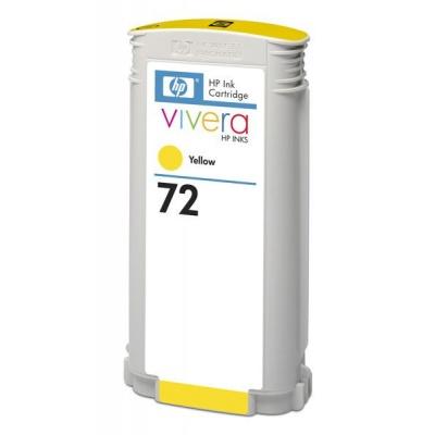 HP 72 Yellow DJ Ink Cart, 130 ml, C9373A