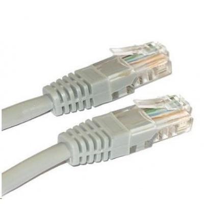 Patch kabel Cat5E, UTP - 5m, šedý