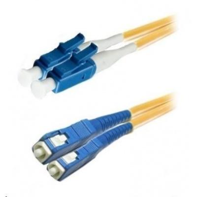 Duplexní patch kabel SM 9/125, OS2, LC-SC, LS0H, 15m