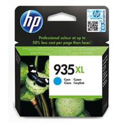 HP 935XL Cyan Ink Cartridge, 825str, C2P24AE