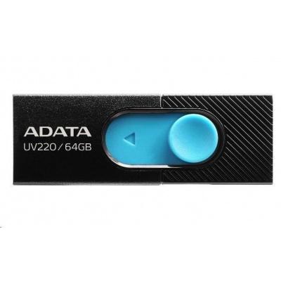 ADATA Flash Disk 16GB UV220, USB 2.0 Dash Drive, černá/modrá