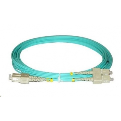 Duplexní patch kabel MM 50/125, OM3, SC-SC, LS0H, 1m