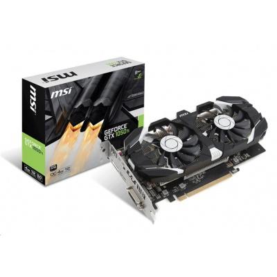 MSI VGA NVIDIA GeForce GTX 1050 Ti 4GT OC, GTX1050, GDDR5 4GB, 1xHDMI, 1xDVI, 1xDP