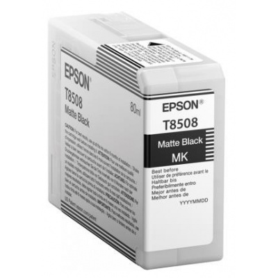 "EPSON ink čer ULTRACHROME HD ""Kosatka"" - Matte Black - T850800 (80 ml)"