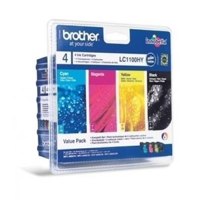 BROTHER INK LC-1100 BK/C/M/Y HY Pack pro MFC-6490CW/DCP-6690CW