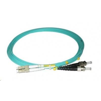 Duplexní patch kabel MM 50/125, OM3, LC-ST, LS0H, 1m