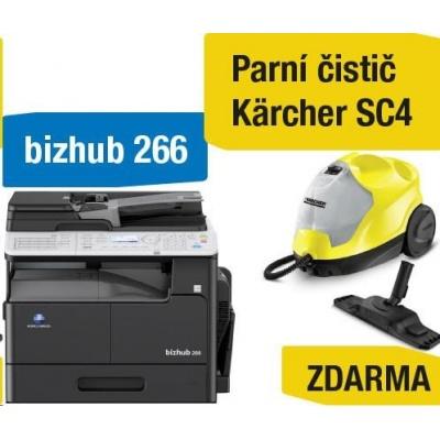 Minolta kopírka bizhub 266 (A3, 26ppm, Duplex, LAN/USB, GDI) + Kärcher čistič SC4