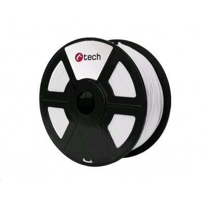 C-TECH Tisková struna (filament) PETG, 1,75mm, 1kg, bílá