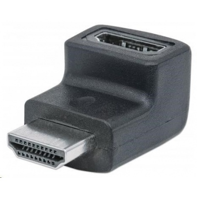 MANHATTAN HDMI Adapter, A Female to A Male, downward 90° Angle