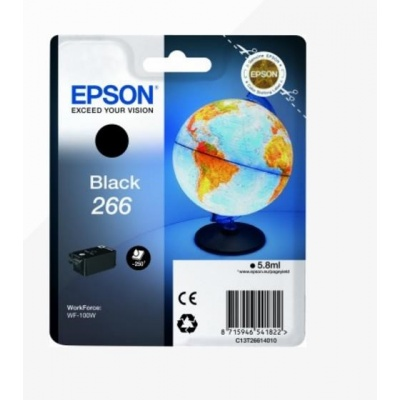"EPSON ink čer Singlepack ""Globus"" Black 266 ink cartridge 5,8 ml"