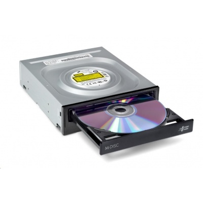 HITACHI LG - interní mechanika DVD-W/CD-RW/DVD±R/±RW/RAM/M-DISC GH24NSD5, 24x SATA, Black, bulk bez SW