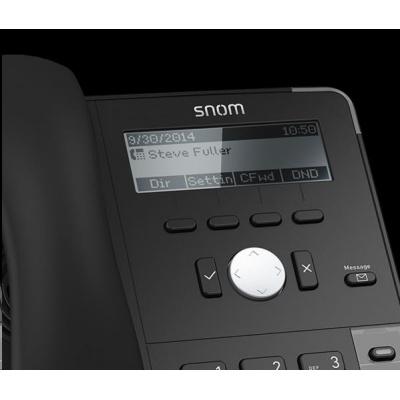 Snom IP telefon D715, 4 SIP, 4-řádkový displej, 10/100/1000 Mbps, Wi-Fi, USB, PoE