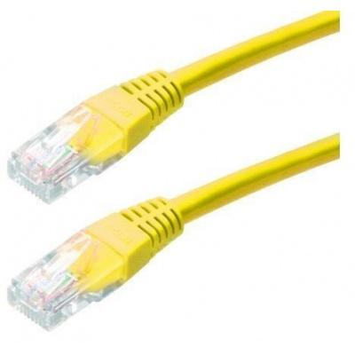 Patch kabel Cat5E, UTP - 0,5m, žlutý