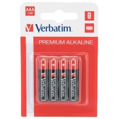 VERBATIM Alkalické baterie AAA, 4 PACK , LR03