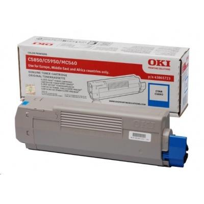 Oki Toner Cyan do C5850/C5950/MC560 (6 000 stránek)