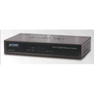 Planet GSD-503 Switch 5x10/100/1000BASE-T, EUP, 802.3AZ, kov