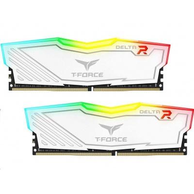 DIMM DDR4 16GB 2666MHz, CL15, (KIT 2x8GB), TEAM T-FORCE Delta RGB (White)