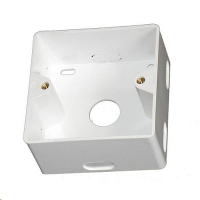 Krabice pro zásuvku na omítku, 80x80x40, bílá