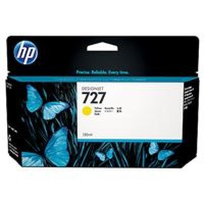 HP 727 Yellow Ink Cart, 130 ml, B3P21A