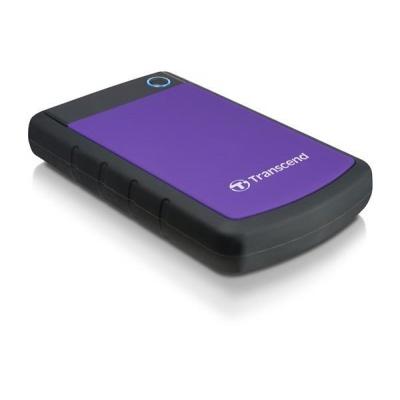 """TRANSCEND externí HDD 2,5"""" USB 3.0 StoreJet 25H3P, 2TB, Purple (nárazuvzdorný)"""