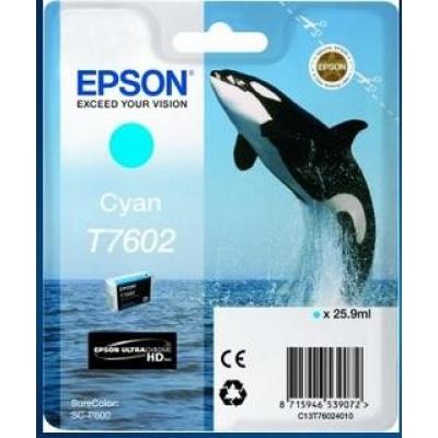 """EPSON ink bar ULTRACHROME HD """"Kosatka"""" - Cyan - T7602 (25,9 ml)"""