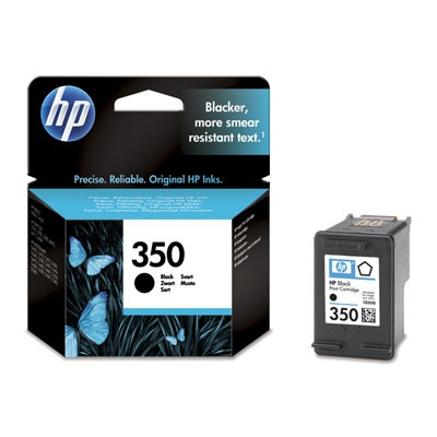 HP 350 Black Ink Cart, 4,5 ml, CB335EE