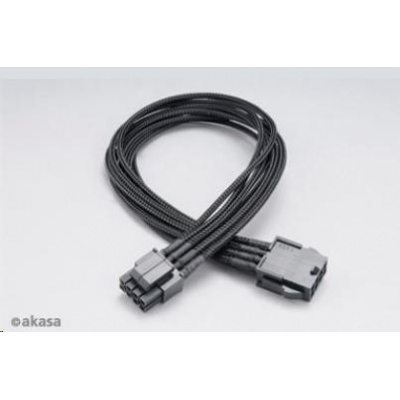 AKASA kabel FLEXA P8 prodloužení k 8pin ATX PSU, 40cm