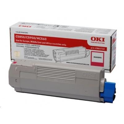 Oki Toner Magenta do C5850/C5950/MC560 (6 000 stránek)