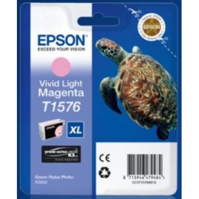 "EPSON ink bar Stylus photo ""Želva"" R3000 - light Vivid Magenta - T1576"