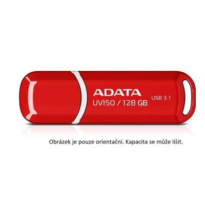 ADATA Flash Disk 64GB UV150, USB 3.1 Dash Drive (R:90/W:20 MB/s) červená