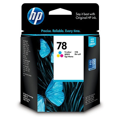 HP 78 Tri-color Ink Cart, 19 ml, C6578D