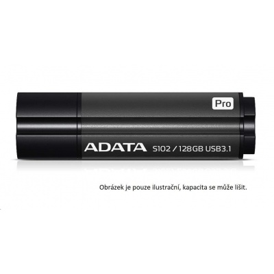 ADATA Flash Disk 64GB Superior S102 Pro, USB 3.1, titan šedá (R:100/W:50 MB/s)