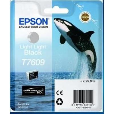 "EPSON ink čer ULTRACHROME HD ""Kosatka"" - Light Light Black - T7609 (25,9 ml)"