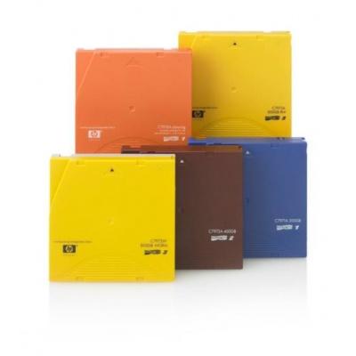 HP LTO4 Ultrium 0.8/1.6TB Read/Write Data Cartridge C7974A (1xHP LTO4 DataCartridge,WriteOn label only,No barcode label)