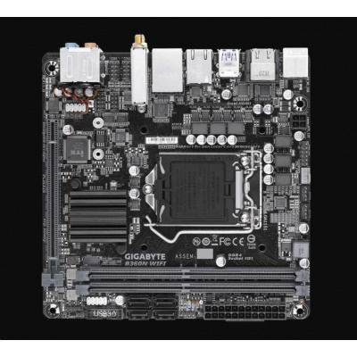 GIGABYTE MB Sc LGA1151 B360N WIFI, Intel B360, 2xDDR4, VGA, WIFI, mini-ITX