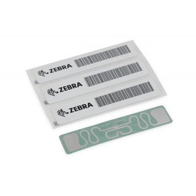 "Zebra RFID Label, 110x13mm, Printable White PET, 3"" core, 869MHz, 1000/roll (Silverline Slim)"