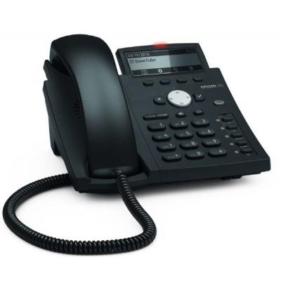 Snom IP telefon D315, 4 SIP, 4-řádkový displej, 10/100/1000 Mbps, Wi-Fi, USB, PoE