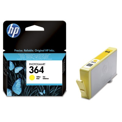 HP 364 Yellow Ink Cart, 3 ml, CB320EE