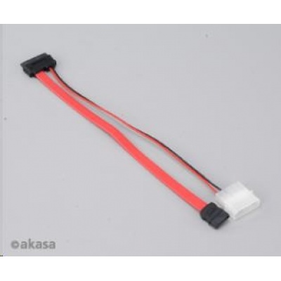 AKASA kabel  SATA pro slim optické mechaniky, pro mini-ITX systémy, 20cm