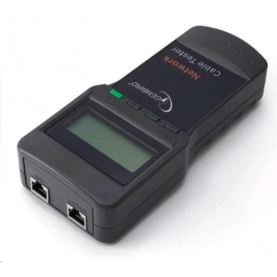 GEMBIRD Zkoušečka kabelů Digital network cable tester (Cat 5E, 6E, coaxial, telephone)