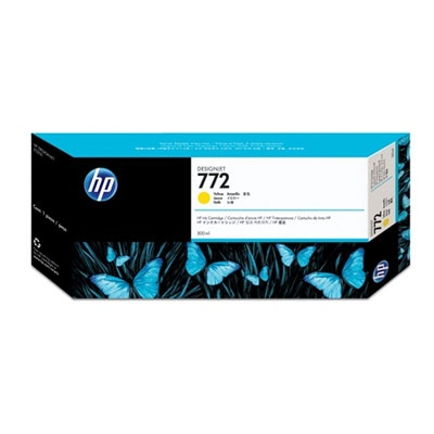 HP 772 Yellow DJ Ink Cart, 300 ml, CN630A