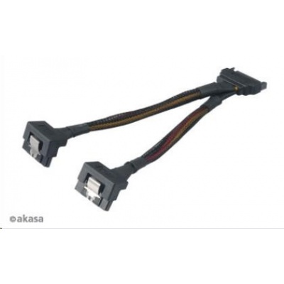 AKASA kabel  SATA rozdvojka napájení, 15cm