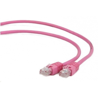 GEMBIRD Kabel UTP Cat5e Patch 2m, růžový